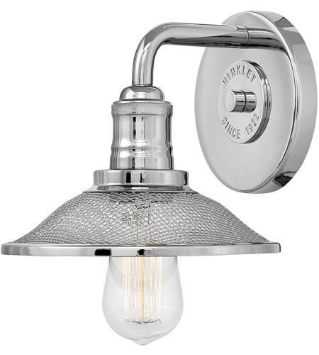 Hinkley 5290pn Rigby 1 Light 9 Inch Polished Nickel Bath Sconce Wall Light