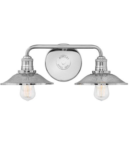 Hinkley 5292PN Rigby 2 Light 19 Inch Polished Nickel Bath Light Wall Light
