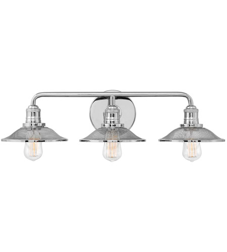 Hinkley 5293PN Rigby 3 Light 27 Inch Polished Nickel Bath Light Wall Light  Photo