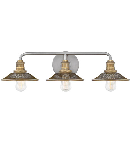 Hinkley 5293AN Rigby 6 Light 27 inch Antique Nickel/Heritage Brass Bathroom Vanity Light Wall Light photo