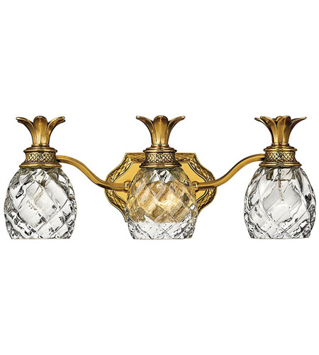 Hinkley Lighting Plantation 3 Light Bath Vanity in Burnished Brass 5313BB