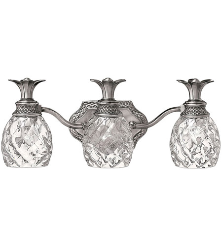 Hinkley Lighting Plantation 3 Light Bath Vanity in Polished Antique Nickel 5313PL