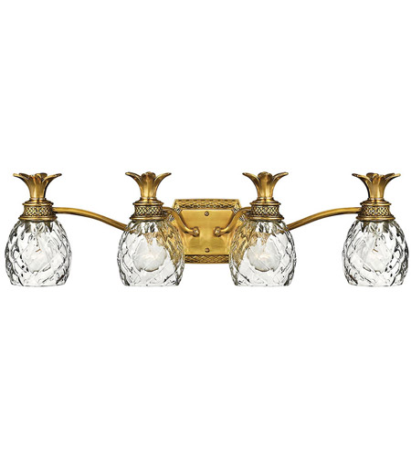 Hinkley Lighting Plantation 4 Light Bath Vanity in Burnished Brass 5314BB