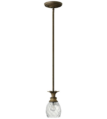 Hinkley 5317PZ Plantation 1 Light 5 inch Pearl Bronze Mini-Pendant Ceiling Light, T4306PZ 6