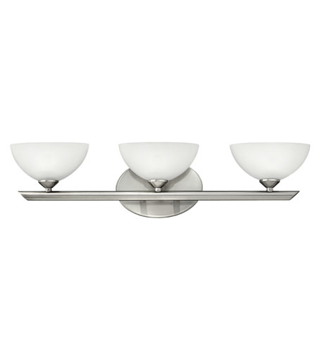 Hinkley Lighting Mia 3 Light Bath Vanity in Brushed Nickel 5343BN