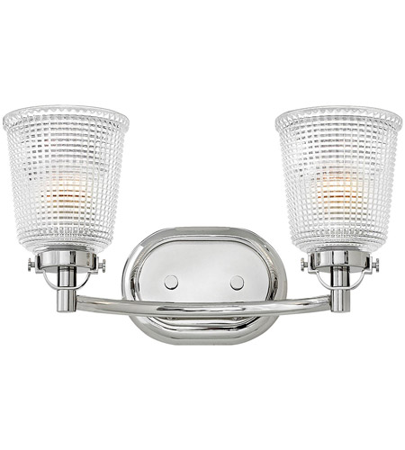 Hinkley 5352PN Bennett 2 Light 16 Inch Polished Nickel Bath Light Wall Light
