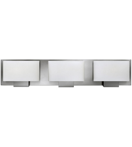 Bathroom Lighting Fixtures Brushed Nickel hinkley 53553bn mila 3 light 24 inch brushed nickel bath light