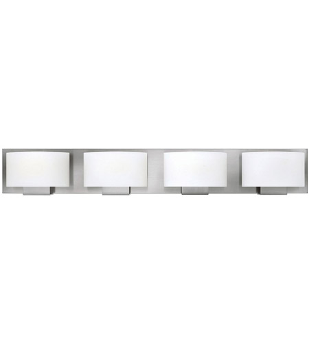 Hinkley 53554BN Mila 4 Light 32 inch Brushed Nickel Bath Light Wall Light in G9, Etched Opal Glass photo