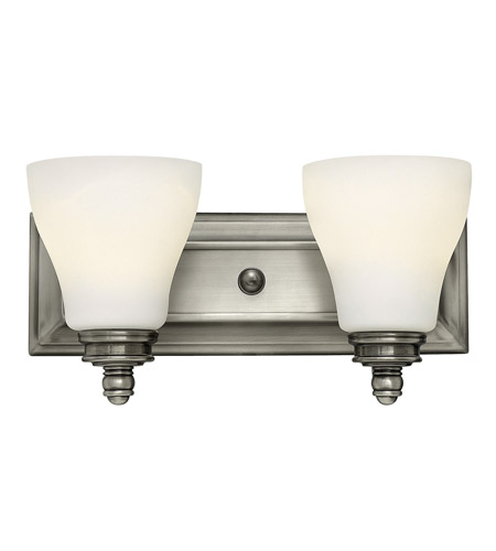 Hinkley 53582AN Claire 2 Light 14 inch Antique Nickel Bath Wall Light photo