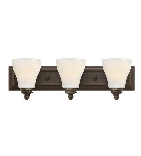 Hinkley Lighting Claire 3 Light Bath in Oil Rubbed Bronze 53583OZ
