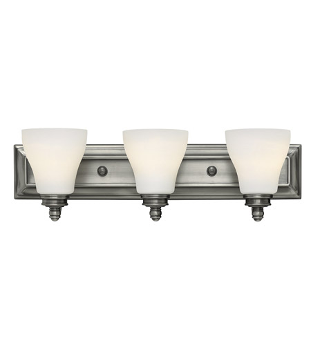 Hinkley Lighting Claire 3 Light Bath in Antique Nickel 53583AN