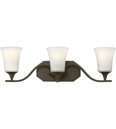 Hinkley 5363OB Brantley 3 Light 24 inch Olde Bronze Bath Wall Light photo