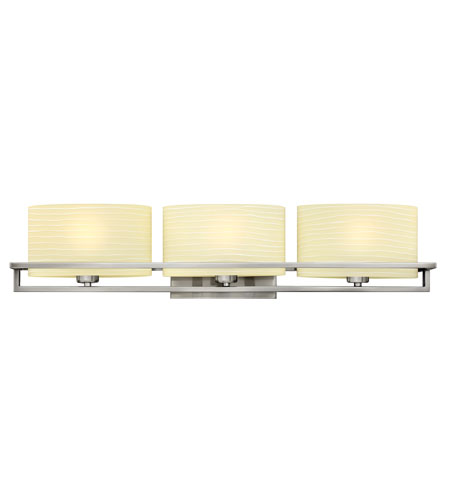 Hinkley Lighting Capri 3 Light Bath Vanity in Brushed Nickel 5383BN
