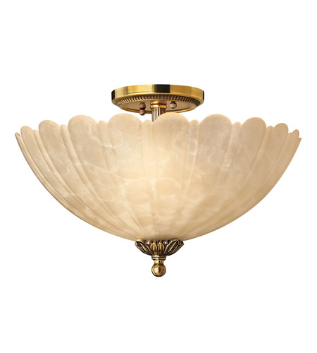 Hinkley 5391BB Isabella 3 Light 15 inch Burnished Brass Flush Mount Ceiling Light photo