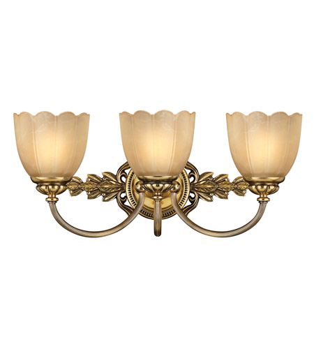 Hinkley 5393BB Isabella 3 Light 21 inch Burnished Brass Bath Vanity Wall Light photo