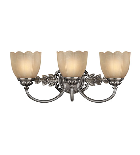 Hinkley 5393PL Isabella 3 Light 21 inch Polished Antique Nickel Bath Vanity Wall Light photo