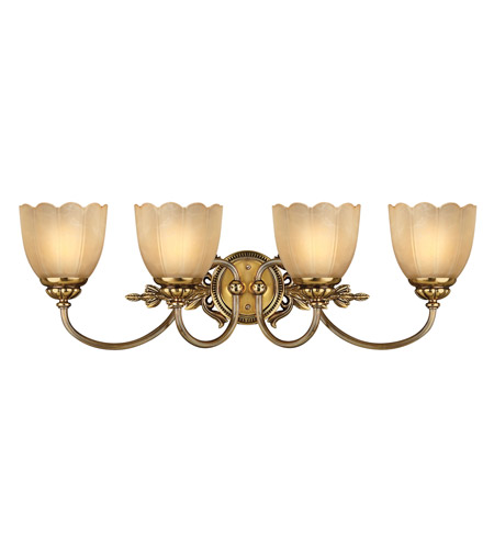 Hinkley Lighting Isabella 4 Light Bath Vanity in Burnished Brass 5394BB