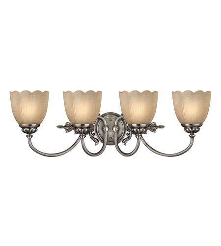 Hinkley 5394PL Isabella 4 Light 29 inch Polished Antique Nickel Bath Vanity Wall Light photo