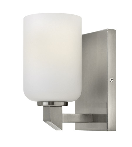 Hinkley 54130bn skylar 1 light 5 inch brushed nickel bath for Hinkley bathroom vanity lighting