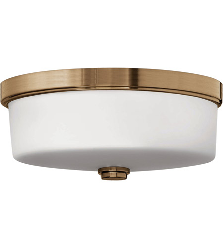 Hinkley 5421BR Signature 3 Light 17 inch Brushed Bronze Bath Flush Mount Ceiling Light in Incandescent, Devon photo