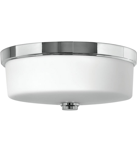 Hinkley 5421CM Signature 3 Light 17 inch Chrome Flush Mount Ceiling Light in Incandescent, Devon photo