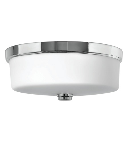 Hinkley 5421CM-GU24 Signature 3 Light 17 inch Chrome Flush Mount Ceiling Light in GU24, Etched Opal Glass photo