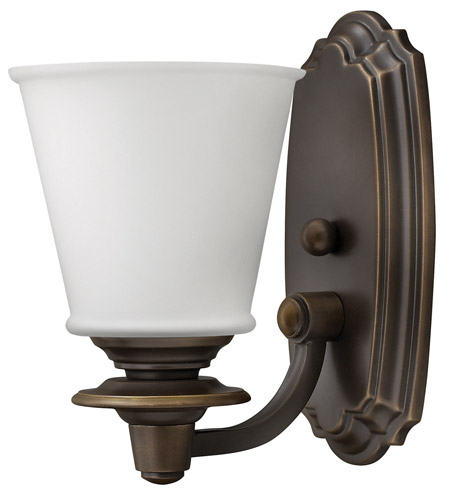 Hinkley 54260OB Plymouth 1 Light 6 inch Olde Bronze Bath Vanity Wall Light photo