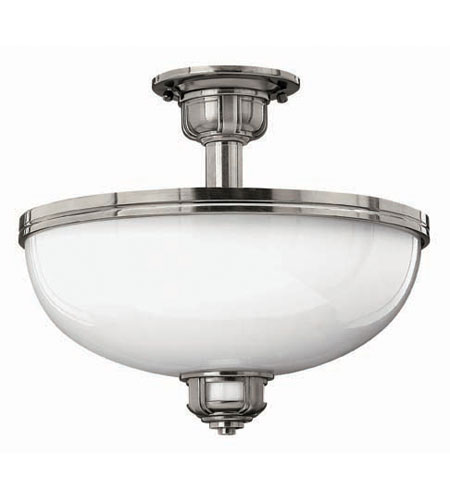 Hinkley Lighting Carina 3 Light Semi Flush in Polished Antique Nickel 5431PL