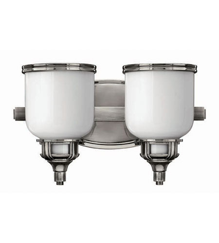 Hinkley Lighting Carina 2 Light Bath Vanity in Polished Antique Nickel 5432PL