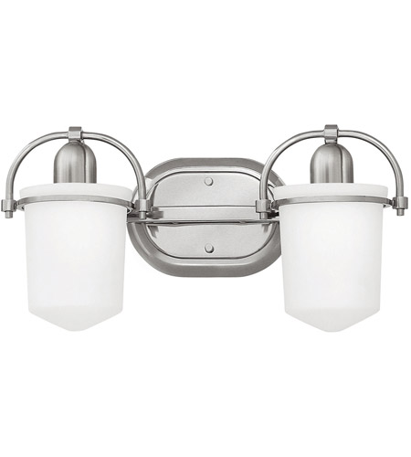 Hinkley 5442BN Clancy 2 Light 16 inch Brushed Nickel Bath Light Wall Light in Etched Opal photo