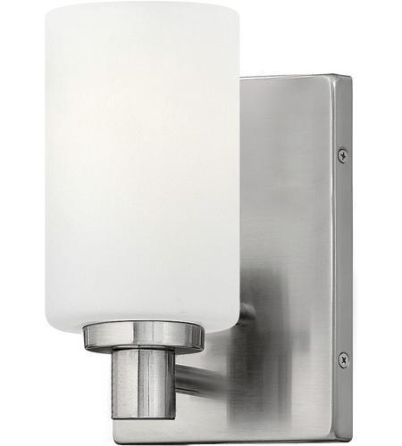 Bathroom Sconces Brushed Nickel hinkley 54620bn karlie 1 light 5 inch brushed nickel bath sconce