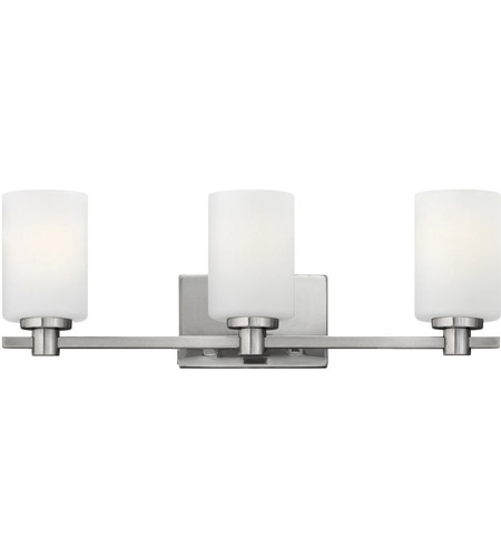 Hinkley 54623BN Karlie 3 Light 23 Inch Brushed Nickel Bath Light Wall Light,  Etched Opal Glass