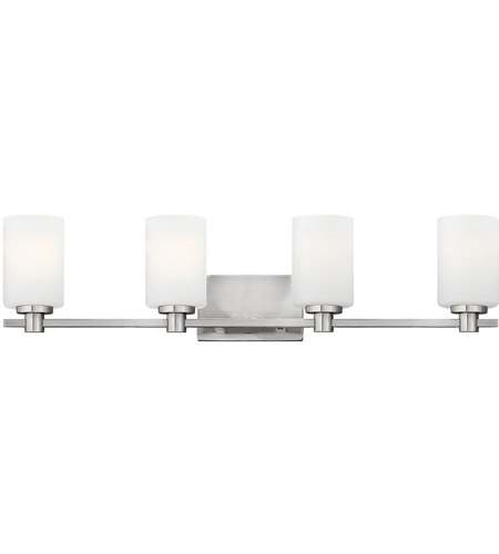 Hinkley 54624BN Karlie 4 Light 32 inch Brushed Nickel Bath Light Wall Light, Etched Opal Glass photo