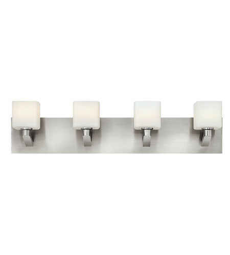 Hinkley 54684BN Sophie 4 Light 29 inch Brushed Nickel Bath Wall Light, Etched Opal Glass photo