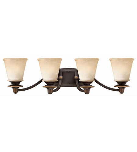 Hinkley Lighting Plymouth 4 Light Bath Vanity in Olde Bronze 5474OB