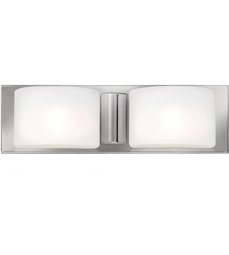 Hinkley 55482CM Daria 2 Light 17 inch Chrome Bath Light Wall Light in G9, Etched Opal Glass photo