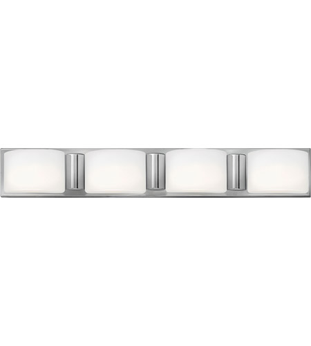 Hinkley 55484CM Daria 4 Light 33 inch Chrome Bath Wall Light in G9, Etched Opal Glass photo