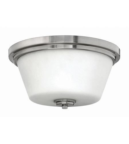 Hinkley Lighting Flush Mount 2 Light Flush Mount in Brushed Nickel 5551BN-LED
