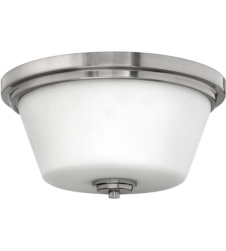 Hinkley 5551BN Signature 2 Light 15 inch Brushed Nickel Flush Mount Ceiling Light in Incandescent, Avon photo
