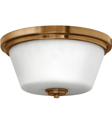 Hinkley 5551BR Signature 2 Light 15 inch Brushed Bronze Flush Mount Ceiling Light in Incandescent, Avon photo