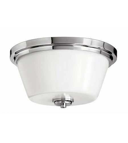 Hinkley Lighting Flush Mount 2 Light Flush Mount in Chrome 5551CM-LED
