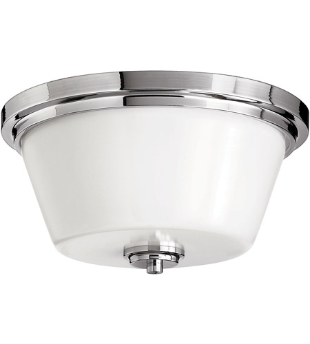 Hinkley 5551CM Signature 2 Light 15 inch Chrome Flush Mount Ceiling Light in Incandescent, Avon photo