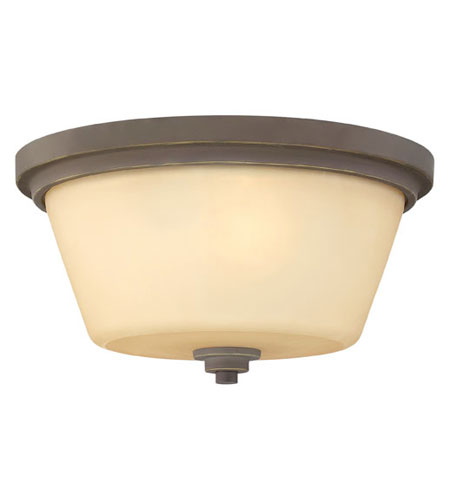 Hinkley Lighting Avon 2 Light Flush Mount in Oil Rubbed Bronze 5551OZ