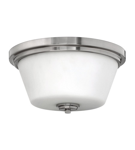 Hinkley 5551BN-GU24 Signature 2 Light 15 inch Brushed Nickel Flush Mount Ceiling Light in GU24, Etched Opal Glass photo
