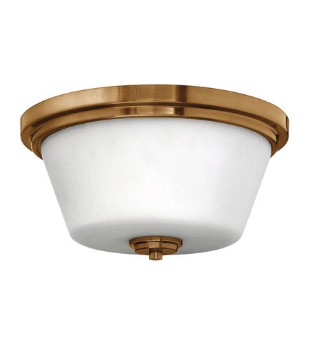 Hinkley 5551BR-GU24 Signature 2 Light 15 inch Brushed Bronze Flush Mount Ceiling Light in GU24, Etched Opal Glass photo