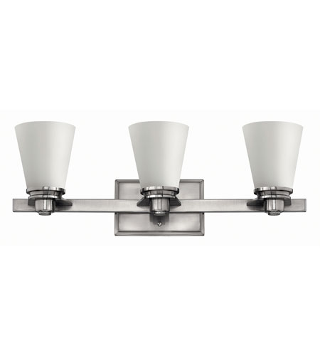 Hinkley Lighting Avon 3 Light Bath in Brushed Nickel 5553BN-GU24