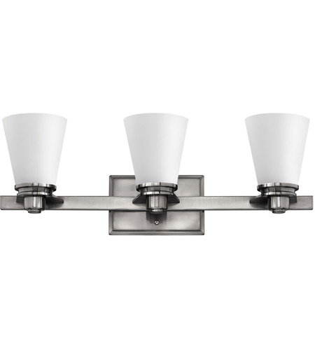 Hinkley 5553BN Avon 3 Light 23 inch Brushed Nickel Bath Light Wall ...