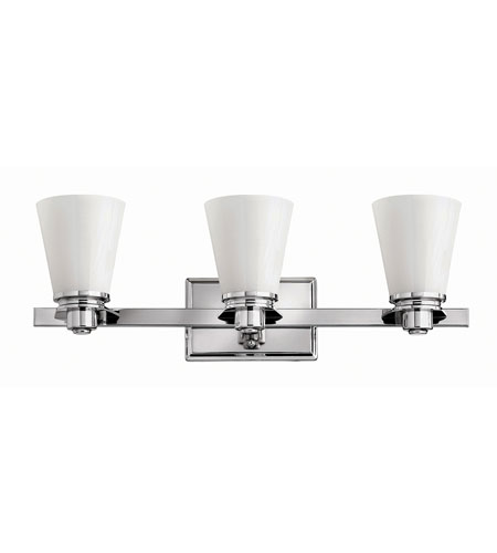 Hinkley Lighting Avon 3 Light Bath in Chrome 5553CM-GU24