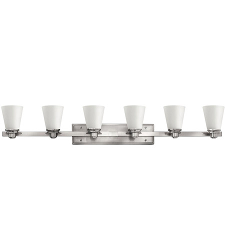 Bathroom Lighting Fixtures Brushed Nickel hinkley 5556bn avon 6 light 48 inch brushed nickel bath light wall