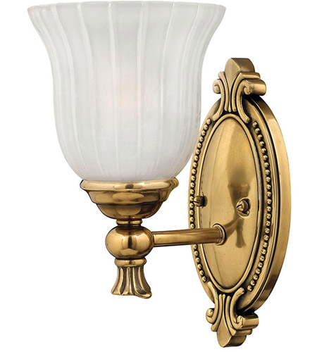 Hinkley 5580BB Francoise 1 Light 6 inch Burnished Brass Bath Sconce Wall Light photo